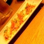 Beer&BBQ KIMURAYA - サーモンとホタテのカルパッチョ(特選コース)