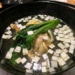 日本料理 太月 - 26年7月 丸吸い ツルムラサキ、葱