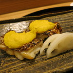 日本料理 太月 - 26年7月 太刀魚モロコシ焼き、酢蓮根