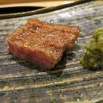 日本料理 太月 - 26年7月 仙台牛炭火焼き 柚子胡椒添え