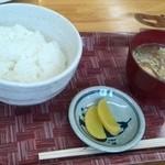 カフェ・イースト - 定食のご飯と味噌汁