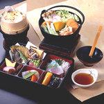信玄館 - 料理写真:名物ほうとう山菜おこわ膳(写真は1,575円(税込)の料理です)
