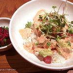 和カフェ yusoshi chano-ma - アボガドのマグロ丼