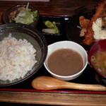 28971127 - チキン南蛮と海老フライ定食800円