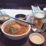 Chuugokutairikuryourisuisenkaku - ビール&坦々麺♪
