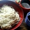 會津野 茂三郎 - 料理写真:蕎麦は通常のツユとおしぼり入りの二種