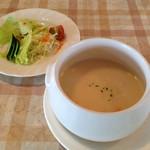 キッチンいまもり - サラダとスープ