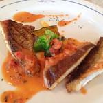 キッチンいまもり - 料理写真:白身魚、ほくほく感がないなぁ