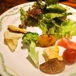 ヨッテリア ガク - メインランチ(前菜の盛り合わせ)