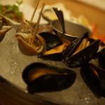ツキノワ料理店 - シーフードプラッター後