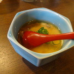 ちゃ味道楽 - この日のお通しはおぼろ豆腐