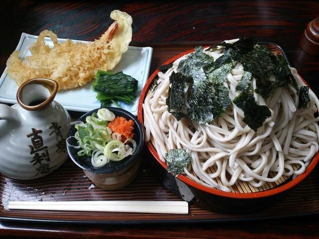 青葉 直利庵 - 天大ざる(¥1200)