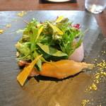 祇園 Abbesses - (2014年7月)旬野菜と稚鮎のベニエのサラダ