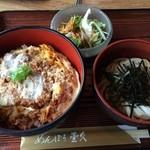 めんぼう壱久 - カツ丼セット(冷たいうどん) 890円(税抜)