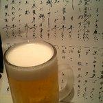 2899331 - ビール&ずらりと書かれた本日のお品書き