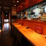 The四季處 飛来 - 人気のカウンターは3席、料理長とお話ができる特等席