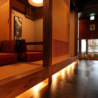 竹の塚にはない個室でステキな空間