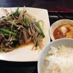 天竺屋台 - レバニラ定食