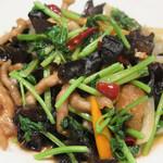 28997958 - 「細切り豚ロースと香菜の辛炒め」                       ひと皿に様々な風味が溶け合って、香菜の香りがミステリアスな余韻を残します。。。