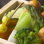 銀座酒房 六角 - 季節野菜のセイロ蒸し