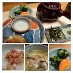 山乃薫 - 私は「「鯛茶」を頂きました。福岡ではごまだれをかけた鯛を出されることが多いですが、 シンプルに出しをかけるだけのコチラの方が美味しく思えます。