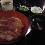 うなぎ双葉 - [料理] 鰻丼セット (梅) 全景♪w