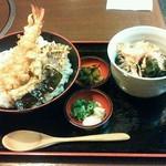 そばよし - 天丼セット1,050円