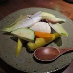 麦酒屋 るぷりん - 酒粕クリームチーズと旬の野菜