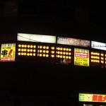 串だおれ - 五反田駅西口、目黒川の手前のビルに提灯が並んでます。