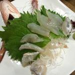 あきの庵 - 天然泳ぎホウボウの姿造り 580円!