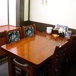 札幌かに本家 - テーブル椅子席もございます。