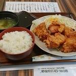 まんぷくキッチン - 唐揚げ定食420円
