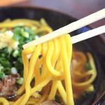 のりば食堂 - オリジナルうこん麺