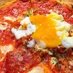 ピッツェリア バール ナポリ - ディアボラ+温泉卵