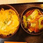 風の蔵 - 小うどん&忍野元気卵の親子丼セット