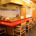 和楽 - 2階:カウンター(天ぷら)