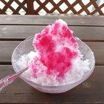かき氷屋さん - いちごかき氷(並、200円)