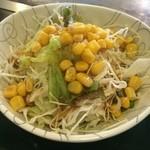 どんじゃ - ランチのサラダ