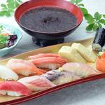 金沢まいもん寿司 - ランチ限定!人気ネタ9貫と巻物代サービスランチ
