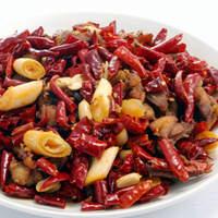 京華樓 - 若鶏の四川風唐辛子香味炒め