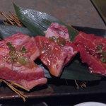 焼肉・鍋物 北義 - 料理写真:牛3種定食(カルビ、ロース、上カルビ)1440円