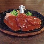 富士美 - ミックスグリル(豚肉のバター焼き、若鶏、ハンバーグ)