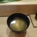 仁平 - 2千円ランチ握り③味噌汁