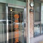 元祖 平壌冷麺屋 - 入り口は、ガラスのドア