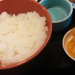 和田浜 - ご飯・漬物