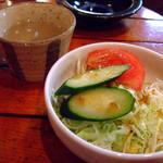 cafe DALI - セットのミニサラダとスープ