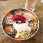 旬魚旬菜 仁 - 石巻で揚がったミンククジラ赤身と、南三陸特産の志津川たこ