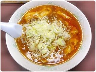 ふぢの - 酸辣麺(スーラーメン) \800 ピリ殻とろとろあんかけラーメン。
