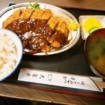 十三 大富士 - ④ビフカツ(A)定食