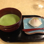 29072050 - 和菓子と抹茶セット